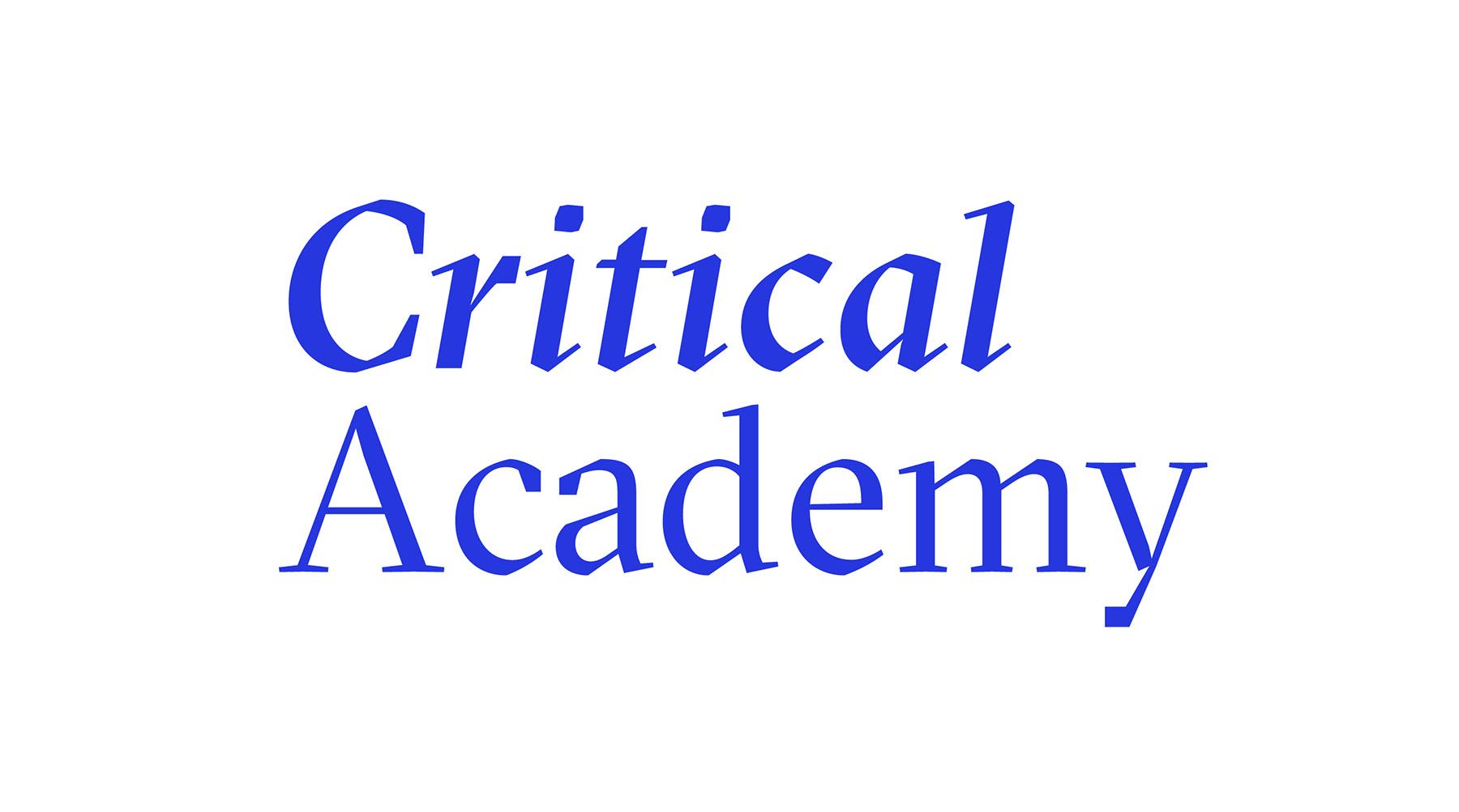 Seminars coming up in February at the Critical Academy