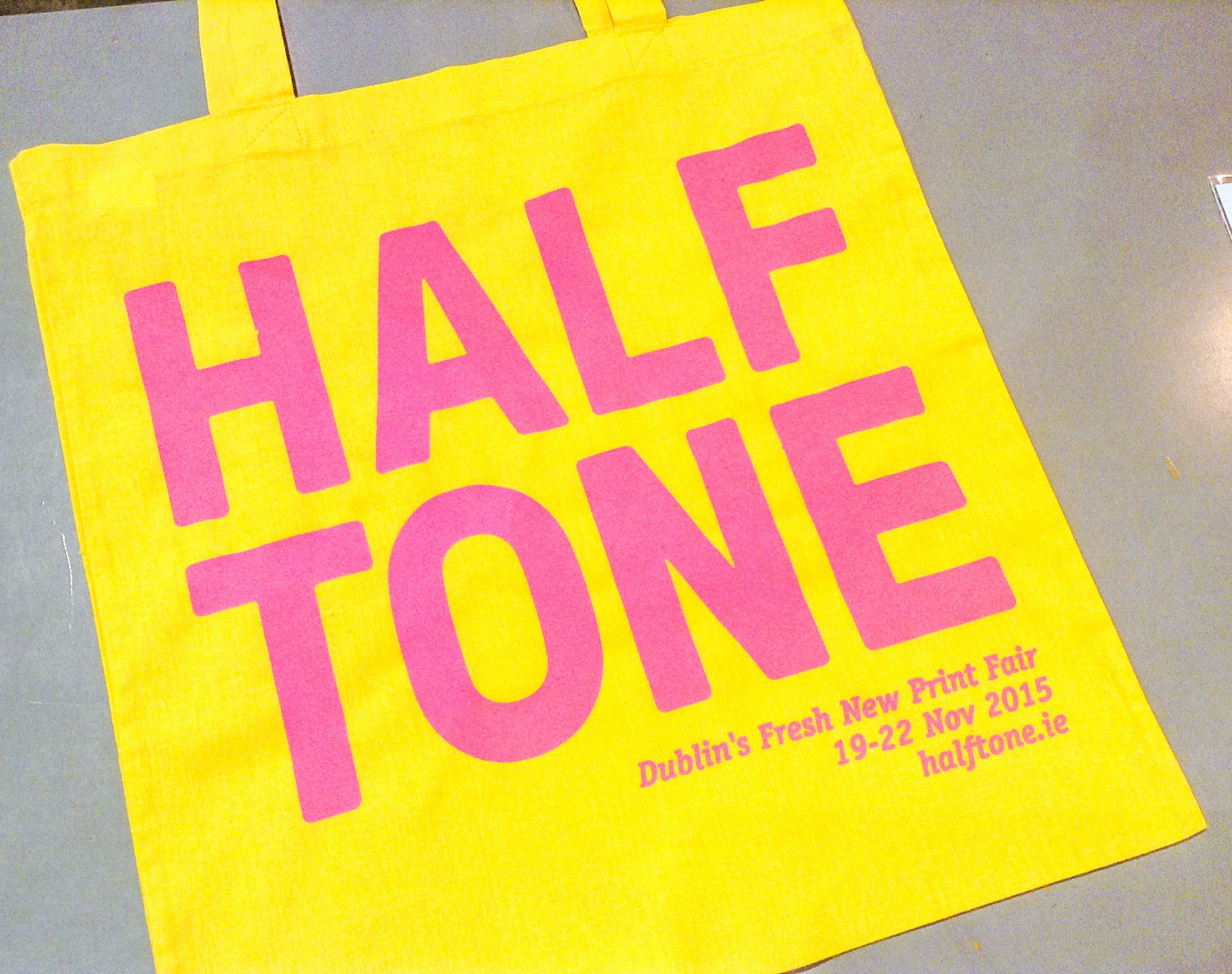 HALFTONE PRINT FAIR TOTE BAG