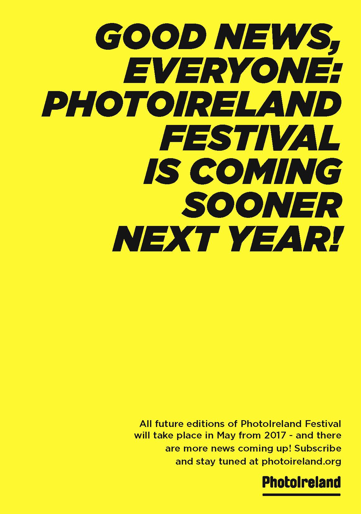 PHOTOIRELAND FESTIVAL 2017 - coming up next May!