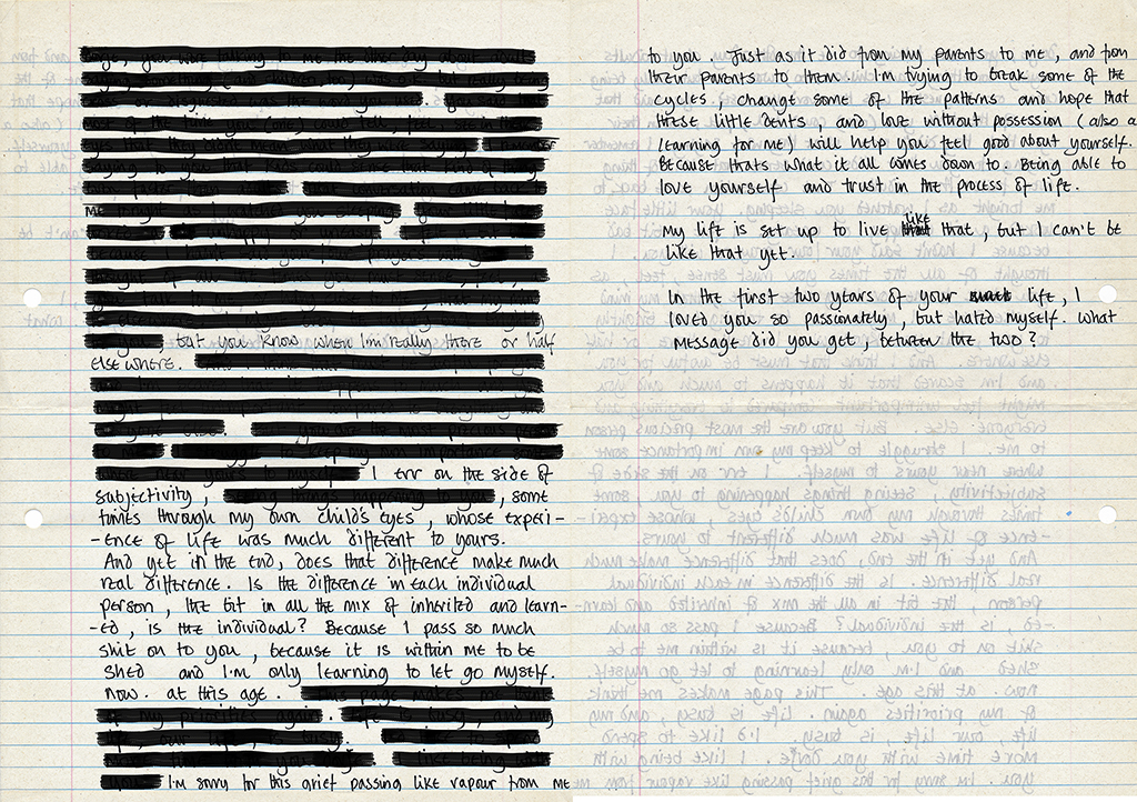 Letter from Mum (Redacted)