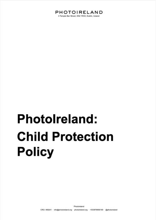 PhotoIreland Child Protection Policy