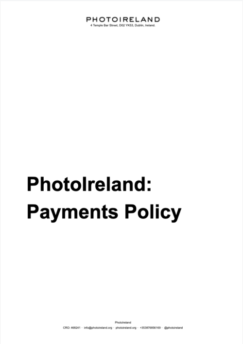 PhotoIreland Payments Policy