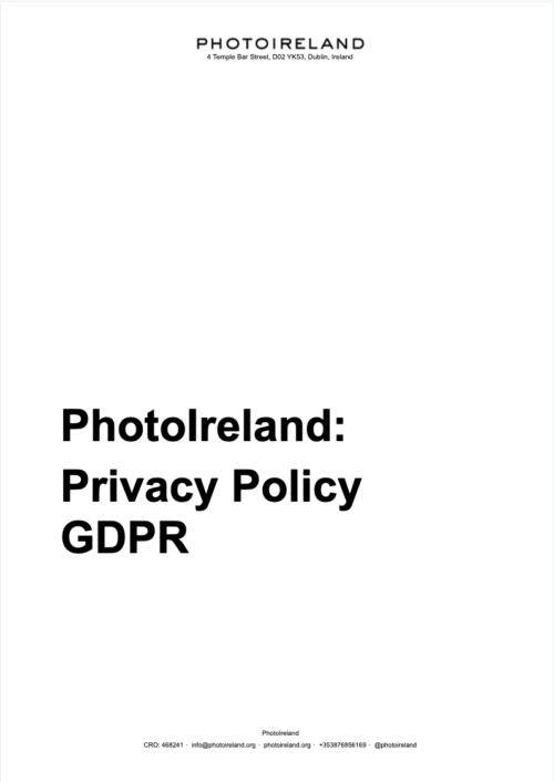 PhotoIreland Privacy Policy GDPR